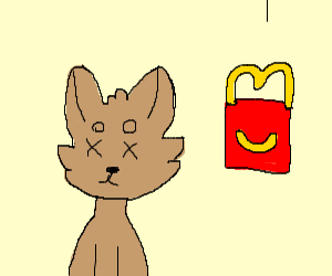 Dogs dies for happy meal