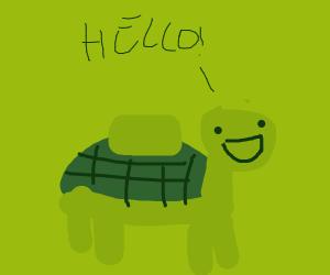 mine turtle greets you