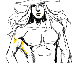 Gyro Zeppeli showing his hot bod
