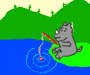 Rhinoceros Fishing