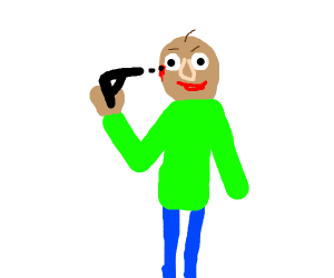 baldi shoots himself
