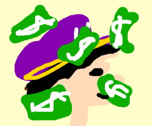 Wario in Raining Money