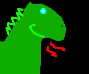 Happy green dragon