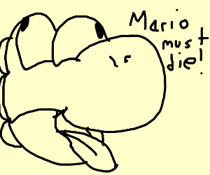 Yoshi wants revenge from Mario