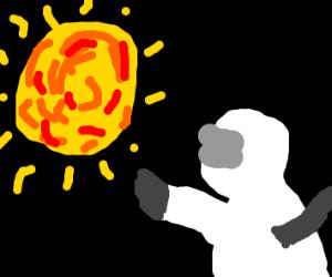 Astronaut Reaches for the sun
