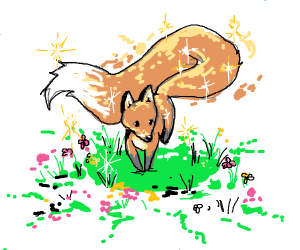 cute fox with endless tail