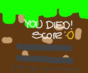When you die in Minecraft