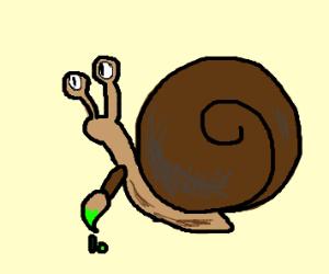 An artistic snail