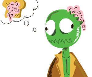 Zombie wants braintoast