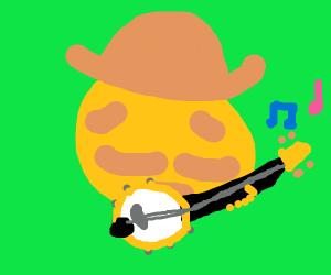 Cowboy playing banjo