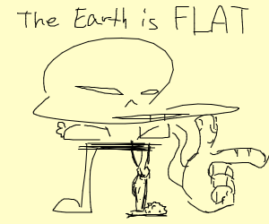 Sans is a flat earther