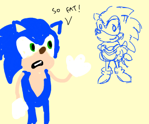 Sonic looks bad on his past with regrets