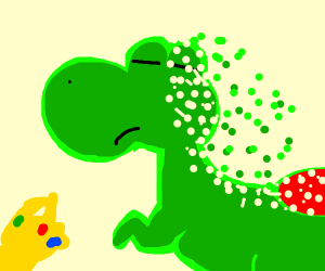 T-rex gets snapped by thanos
