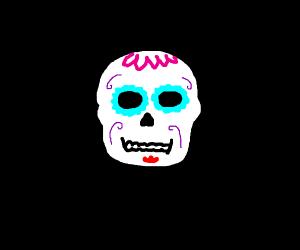 A sugar skull