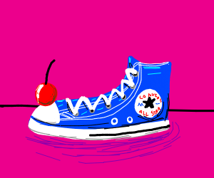 Cherry on top of a shoe
