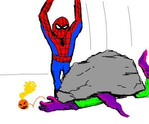a rock killed the green goblin