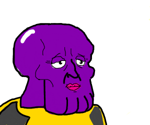Handsome squidward but thanos. He is hotter