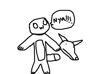 Furry saying nya