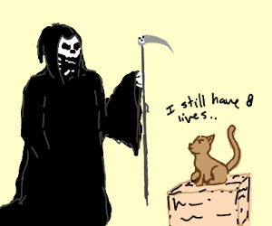 Death about to take a cat