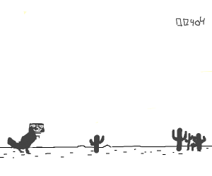 The no internet T-Rex game