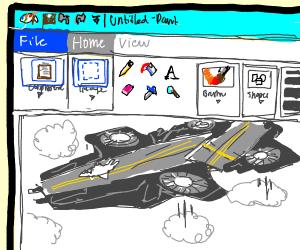 Helicarrier made via Microsoft Paint.