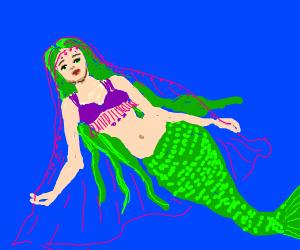 Mermaid in belly dancing outfit