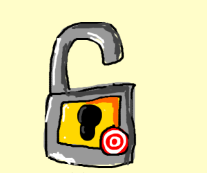 a lock with the target logo