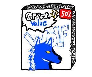 Off brand blue wolf