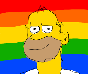 gay rights for Simpsons