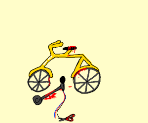 Bike accident with microphone
