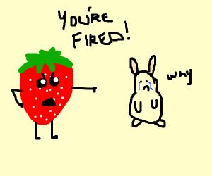 Strawberry firing Hamster