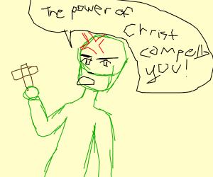 Green man the power of Christ compells u
