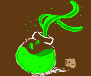 Potion with partials emitting from it