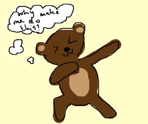 Teddy bear dabbing