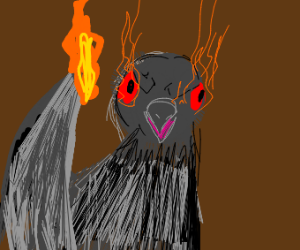 pigeon with dark powers
