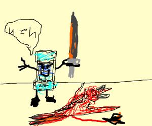 Deodorant kills a devil