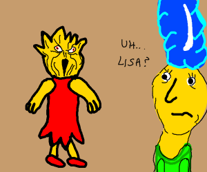 Lisa from Simpons with scary face