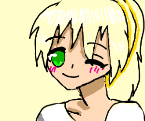 Cute Anime Girl Winking