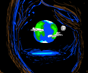 Earth in a forest
