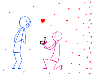 Propose to blue