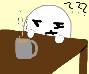 stick figure does not understand coffee