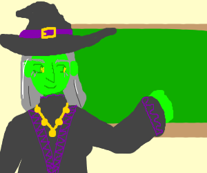 when a green witch is actually a teacher