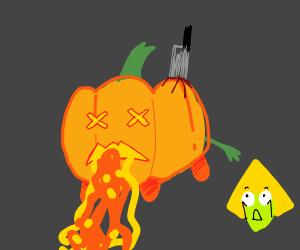 Murderer's victim is a pumpkin