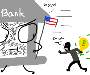 The bank says bye to a robber
