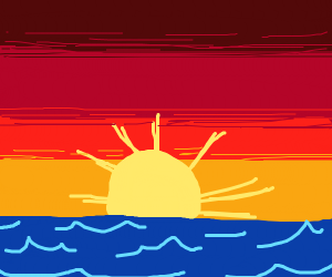 Orangish Ocean sunset