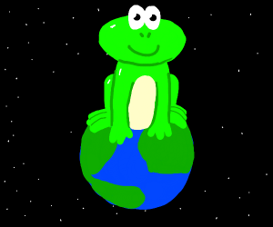 Frog on top of the world