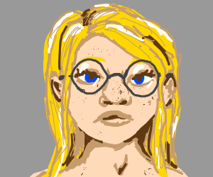 blonde with cookie glasses