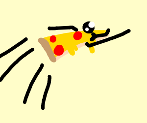 Flying pizza.
