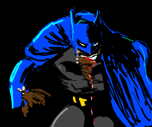 Batman is eating bats