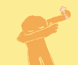 DAB-ing while holding a cross